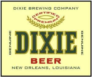 Dixie Beer Iron   on T   Shirt Transfer 8 x 10