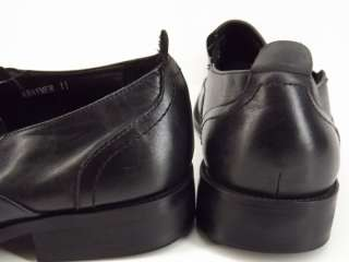 shoes black leather dress Steve Madden Kraymer 11 M loafers