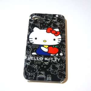 Hello Kitty black Snap On Hard Case Cover for iphone 4 4G