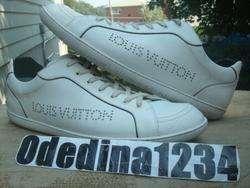 Louis Vuitton Lace Up Mens White Sneakers Size Sz 11.5 (LV 10.5