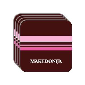 Personal Name Gift   MAKEDONIJA Set of 4 Mini Mousepad