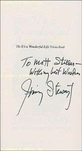 JAMES JIMMY STEWART   BOOK SIGNED