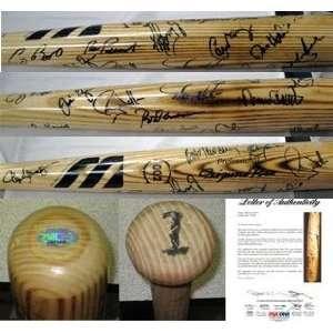 1990s Baseball Tour of Japan Signed Bat 21 Sigs PSA LOA   Autographed