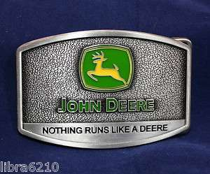 John Deere Pewter Belt Buckle Farm Tractor NEW |