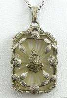 PHI KAPPA SIGMA fraternity Silver Crest PENDANT