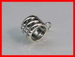 Sterling Silver Dangle Bead Charm   Add Own Charms