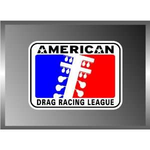 AMERICA DRAG RACING LEAGUE LOGO VINYL DECAL BUMPER STICKER