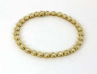 LAVISH 14K GOLD 2.5 CTS DIAMONDS LADIES TENNIS BRACELET
