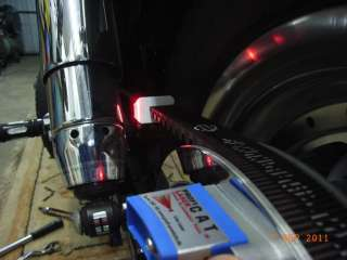 Laser motorcycle chain & rear wheel alignment tool. Check chain and