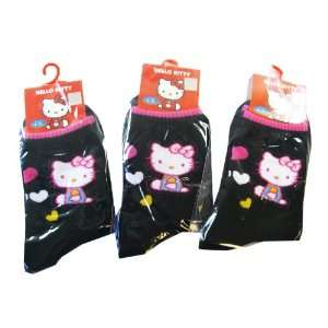 Kitty Girls Black Socks (3pairs)   Hello Kitty 3pc Black Socks Toys