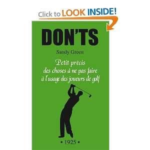 à lusage des joueurs de golf (9782841865666): Sandy Green: Books