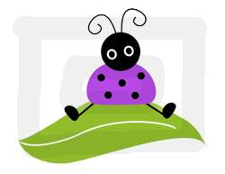 PURPLE LADYBUG BABY GIRL NURSERY WALL STICKERS DECALS