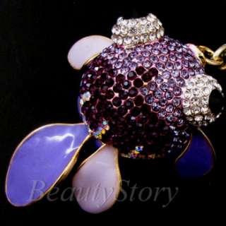 SHIPPING Rhinestone Crystal GOLDFISH Key Chain Handbag Decorate