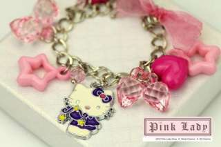 KJ30 Cute Hello Kitty Charm Pendant Bracelet