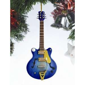 Navy Electric Guitar Ornament