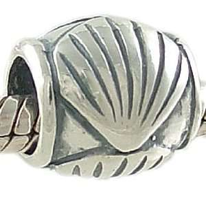 Sea Shell 925 Sterling Silver Spacer Bead fits European Charm Bracelet