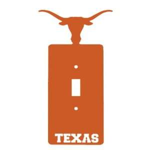Texas Longhorns Single Toggle Metal Switch Plate Cover