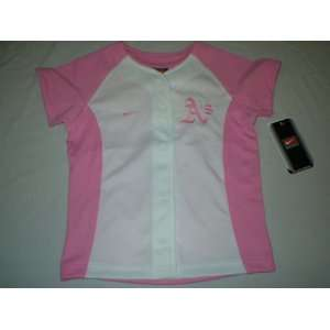 Oakland Athletics Youth Girls Pink Nike Baseball Jersey
