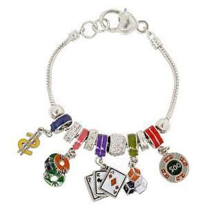 Multi Color Casino Theme Designer Style Bead Charm