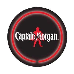 Licensed Captain Morgan Logo Beer Bar Neon Clock
