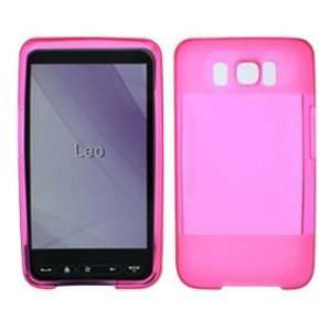 HTC HD2 Hot Pink Crystal Silicon Skin Case + Free