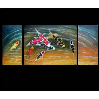 Art Feng Shui Painting Koi Fish Painting Japanese Koi Painting 74 1