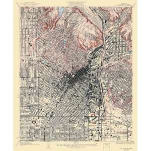 USGS TOPO MAP LOS ANGELES QUAD CALIFORNIA (CA) 1928