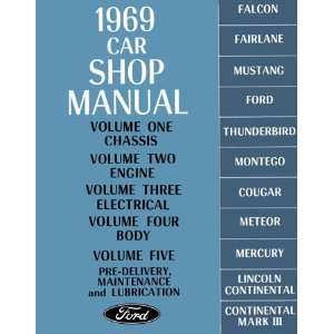 1969 FORD FAIRLANE MUSTANG GALAXIE et Service Manual