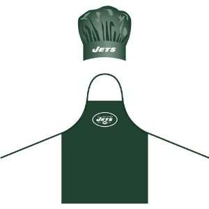 New York Jets NFL Barbeque Apron and Chefs Hat