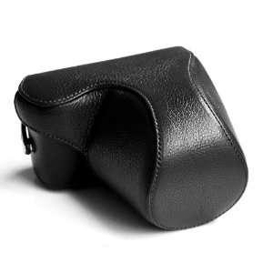 Black Full Genuine leather case for Sony NEX5 NEX 5
