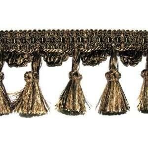3 Tassel Fringe Trim Black/Taupe By The Yard Arts