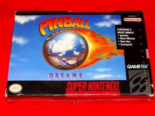 SEALED IN BOX Pinball Dreams Nintendo NES Complete CIB