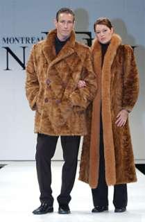NEW Mens Golden Mink Double Breasted Car Coat Jacket