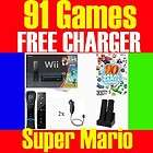 Wii CONSOLE SYSTEM 2 PLAYERS CHARGER 36 GAMES 045496880019