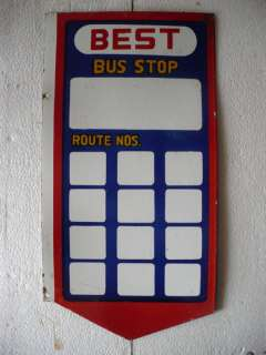 Vintage Porcelain/Enamel Sign   BEST Bus Stop