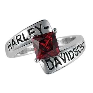 Davidson Silver Crossroads Birthstone Ring   January Garnet   NEW