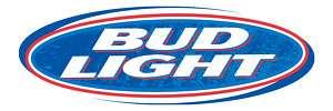 BUD LIGHT 2 Cornhole Game Decal Sticker 18w FULL COLOR
