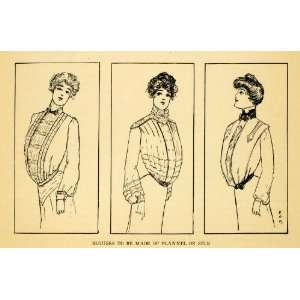 Women Edwardian Fashion Clothing Silk Flannel Shirts Blouses Clothes