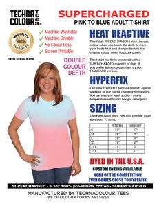 Technacolour Tees Hypercolor shirts PINK TO BLUE SUPERCHARGED