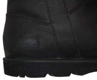 MENS $220 UGG BLACK LEATHER BUCKLE MOTORCYCLE TOP BOOTS 13