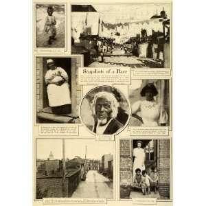 1909 Print Washington D. C. African American Slavery