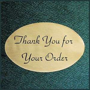 OVAL 1.25X2 GOLD THANK YOU STICKERS LABELS Roll of 500