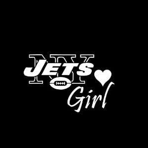 New York Jets Girl Car Window Decal Sticker White 6