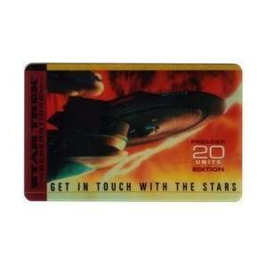 Collectible Phone Card Star Trek Generations   20u Enterprise In The