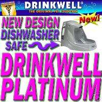 DRINKWELL PLATINUM PET FOUNTAIN Cat Dog Waterer Dish