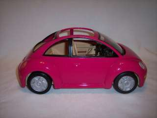 Fisher Price Loving Family Dollhouse Volkswagen Beetle bug Car PINK