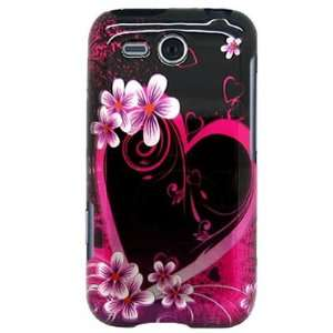 Snap on Hard Plastic with PINK LOVE HEART FLOWER Design Cover Sleeve