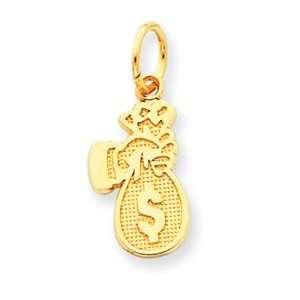 Genuine IceCarats Designer Jewelry Gift 14K Money Bag Charm Jewelry