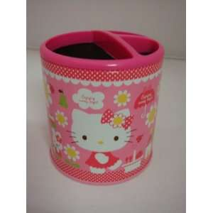 Sanrio Pink Hello Kitty Pen Case Brush Pot Holder Can
