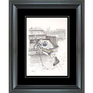 Hockey Art Edmonton Oilers After Shiny Color Framed Print